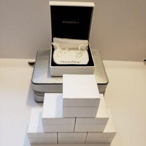 Pandora Travel Jewelry Box W 7 Empty Charm Boxes